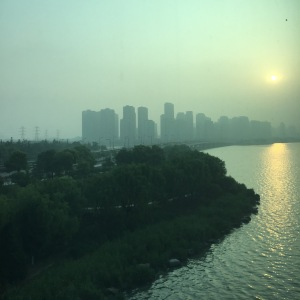 Foggy/smoggy morning in Suzhou.